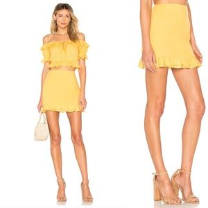 Privacy Please Skirts - NWT Privacy Please Yellow Morgan Ruffle Skirt